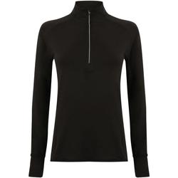 vaatteet Naiset T-paidat pitkillä hihoilla Tombo TL563 Black