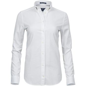 vaatteet Naiset Paitapusero / Kauluspaita Tee Jays TJ4001 White