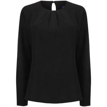 vaatteet Naiset T-paidat pitkillä hihoilla Henbury HB598 Black
