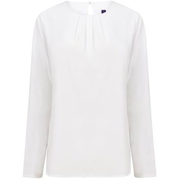 vaatteet Naiset T-paidat pitkillä hihoilla Henbury HB598 White