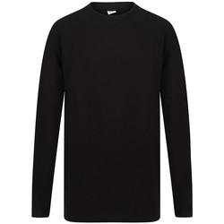 vaatteet Miehet T-paidat pitkillä hihoilla Sf SF259 Black