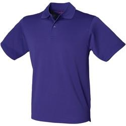 vaatteet Miehet Lyhythihainen poolopaita Henbury  Bright Purple