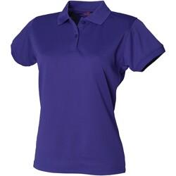 vaatteet Naiset Lyhythihainen poolopaita Henbury  Bright Purple