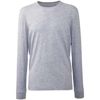 vaatteet Miehet T-paidat pitkillä hihoilla Anthem AM11 Grey