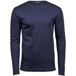 vaatteet Miehet T-paidat pitkillä hihoilla Tee Jays T530 Navy