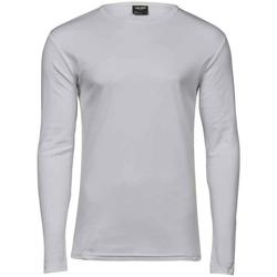 vaatteet Miehet T-paidat pitkillä hihoilla Tee Jays T530 White