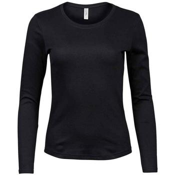 vaatteet Naiset T-paidat pitkillä hihoilla Tee Jays T590 Black
