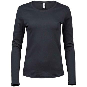 vaatteet Naiset T-paidat pitkillä hihoilla Tee Jays T590 Dark Grey