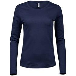 vaatteet Naiset T-paidat pitkillä hihoilla Tee Jays T590 Navy