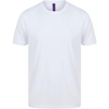 vaatteet Miehet Lyhythihainen t-paita Henbury H024 White