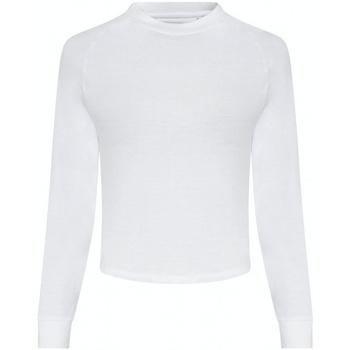 vaatteet Naiset T-paidat pitkillä hihoilla Awdis JC116 Arctic White