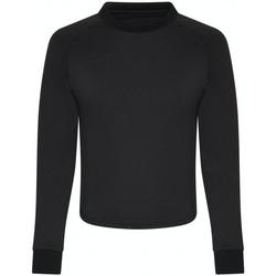 vaatteet Naiset T-paidat pitkillä hihoilla Awdis JC116 Jet Black