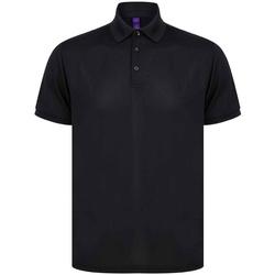 vaatteet Miehet Lyhythihainen poolopaita Henbury H465 Black