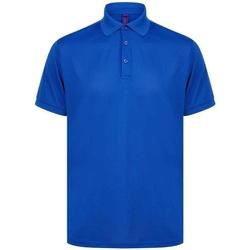 vaatteet Miehet Lyhythihainen poolopaita Henbury H465 Royal Blue