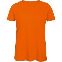vaatteet Miehet Lyhythihainen t-paita B And C BA118 Orange