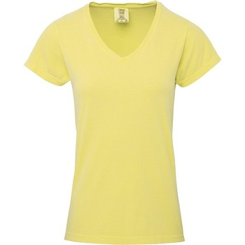 vaatteet Naiset Lyhythihainen t-paita Comfort Colors CO011 Butter