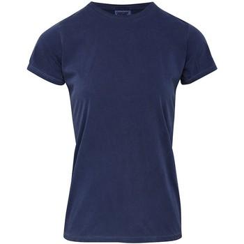 vaatteet Naiset Lyhythihainen t-paita Comfort Colors CO010 Blue Jean