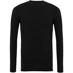 vaatteet Miehet T-paidat pitkillä hihoilla Tridri TR016 Black