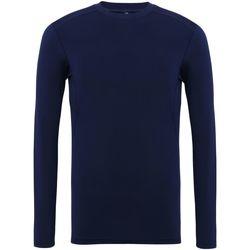vaatteet Miehet T-paidat pitkillä hihoilla Tridri TR016 Navy