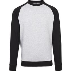 vaatteet Miehet T-paidat pitkillä hihoilla Build Your Brand BY076 Heather Grey/Black