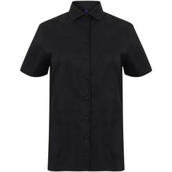 vaatteet Naiset Paitapusero / Kauluspaita Henbury HB538 Black