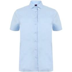 vaatteet Naiset Paitapusero / Kauluspaita Henbury HB538 Light Blue