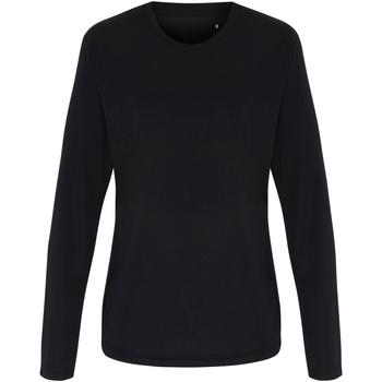 vaatteet Naiset T-paidat pitkillä hihoilla Tridri TR060 Black