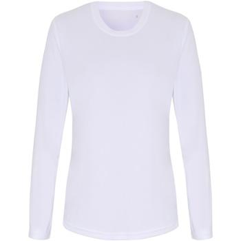 vaatteet Naiset T-paidat pitkillä hihoilla Tridri TR060 White