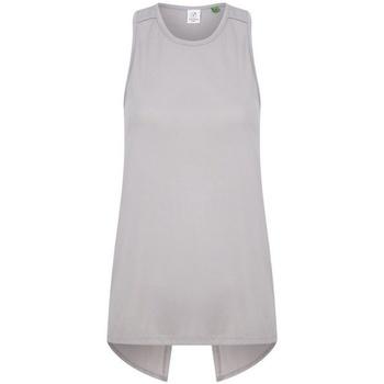 vaatteet Naiset Hihattomat paidat / Hihattomat t-paidat Tombo TL507 Light Grey