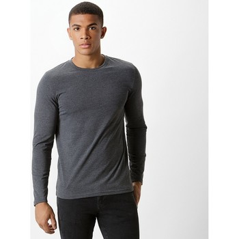 vaatteet Miehet T-paidat pitkillä hihoilla Kustom Kit KK510 Dark Grey Marl