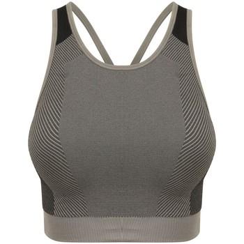vaatteet Naiset Hihattomat paidat / Hihattomat t-paidat Tombo TL351 Light Grey/Black