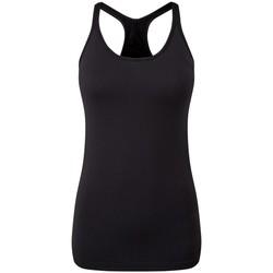 vaatteet Naiset Hihattomat paidat / Hihattomat t-paidat Tridri TR217 Black