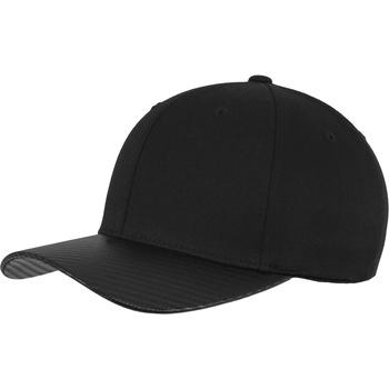 Asusteet / tarvikkeet Lippalakit Flexfit By Yupoong YP103 Black/Carbon