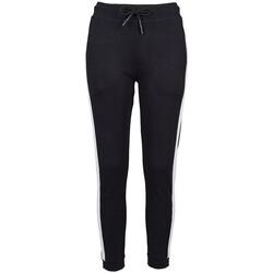 vaatteet Naiset Verryttelyhousut Build Your Brand BY103 Black/White