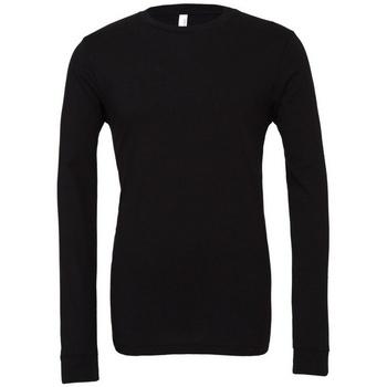 vaatteet T-paidat pitkillä hihoilla Bella + Canvas BE044 Black