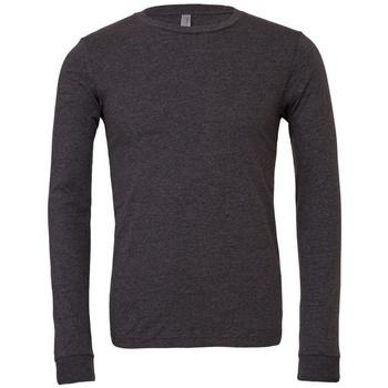 vaatteet T-paidat pitkillä hihoilla Bella + Canvas BE044 Dark Grey Heather