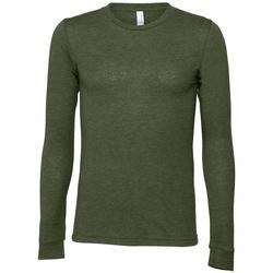 vaatteet T-paidat pitkillä hihoilla Bella + Canvas BE044 Military Green
