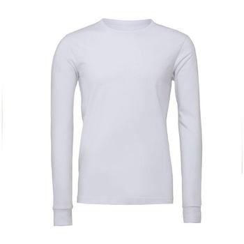 vaatteet T-paidat pitkillä hihoilla Bella + Canvas BE044 White