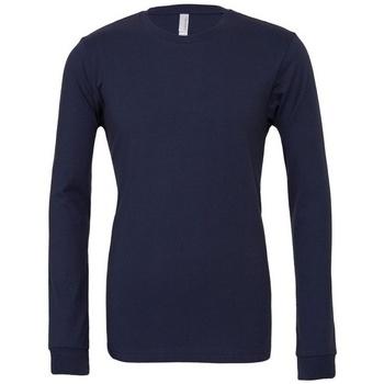 vaatteet T-paidat pitkillä hihoilla Bella + Canvas BE044 Navy