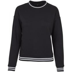 vaatteet Naiset Svetari Build Your Brand BY105 Black/White