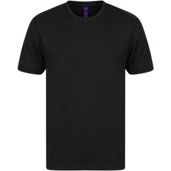 vaatteet Miehet Lyhythihainen t-paita Henbury HB024 Black
