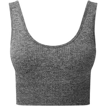 vaatteet Naiset Urheiluliivit Tridri TR213 Black Melange