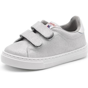kengät Tytöt Matalavartiset tennarit Cienta Chaussures fille  Deportivo Scractch Glitter gris clair
