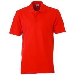 vaatteet Naiset Lyhythihainen poolopaita James And Nicholson  Red
