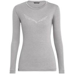 vaatteet Naiset T-paidat pitkillä hihoilla Salewa Solidlogo Dry W Harmaat