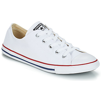 kengät Naiset Matalavartiset tennarit Converse ALL STAR DAINTY OX White / Red
