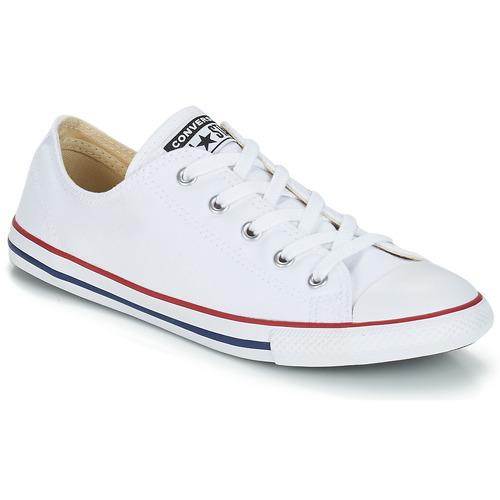 kengät Naiset Matalavartiset tennarit Converse ALL STAR DAINTY OX White / Red