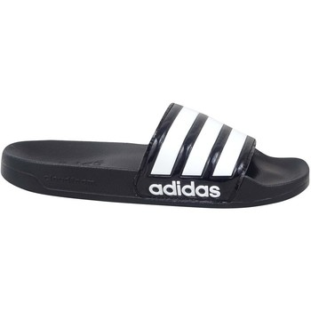 kengät Naiset Sandaalit adidas Originals Adilette Shower Valkoiset, Mustat