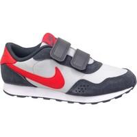 kengät Lapset Matalavartiset tennarit Nike MD Valiant GS Valkoiset, Punainen, Grafiitin väriset