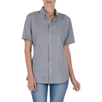 vaatteet Naiset Lyhythihainen paitapusero American Apparel RSACP401S Valkoinen / Sininen